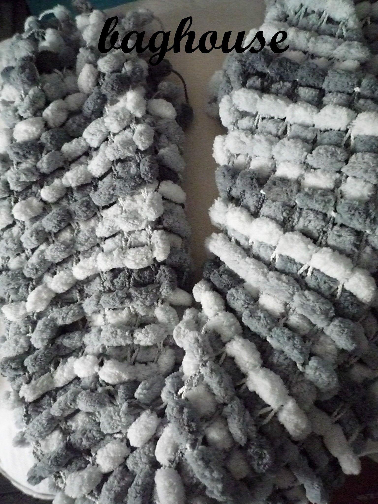 Echarpe laine pompon   Aqualogia 15acecfd96a